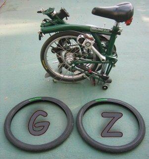 Pneus brompton d'origine = gamelle assurée Gz11