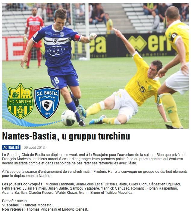 J1 / Jeu des pronos - Prono Nantes-Bastia S11
