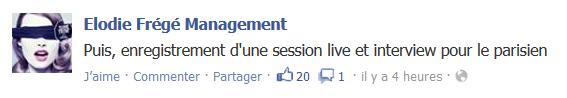 Messages d'Elodie Frégé Management sur Facebook - Page 23 B11