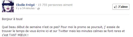Messages d'Elodie Frégé sur Facebook (de Août 2013 à Avril 2014) Captur12