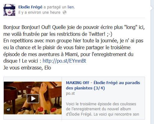 Messages d'Elodie Frégé sur Facebook (de Août 2013 à Avril 2014) Elo11
