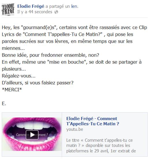 Messages d'Elodie Frégé sur Facebook (de Août 2013 à Avril 2014) Elodie10