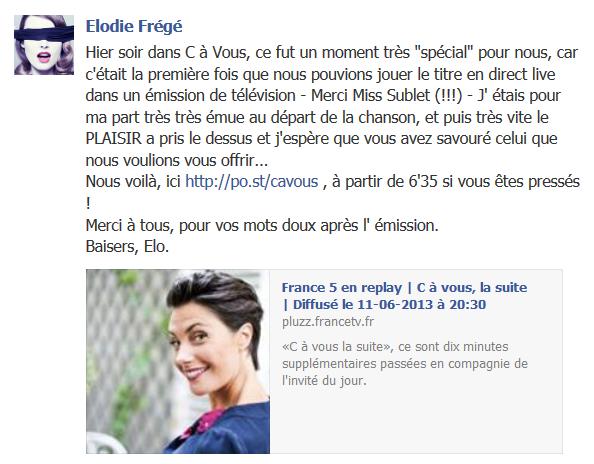 Messages d'Elodie Frégé sur Facebook (de Août 2013 à Avril 2014) Eloerg10