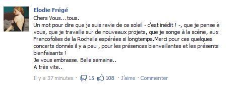 Messages d'Elodie Frégé sur Facebook (de Août 2013 à Avril 2014) Elofac10