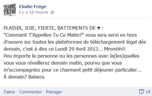 Messages d'Elodie Frégé sur Facebook (de Août 2013 à Avril 2014) Eloo11