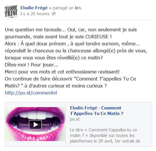 Messages d'Elodie Frégé sur Facebook (de Août 2013 à Avril 2014) Eloooo10