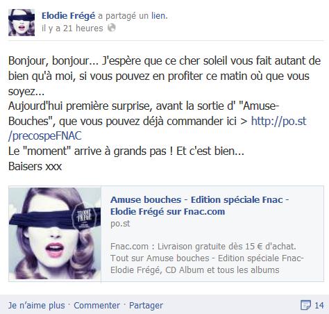 Messages d'Elodie Frégé sur Facebook (de Août 2013 à Avril 2014) Ertyre10