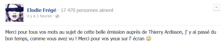 Messages d'Elodie Frégé sur Facebook (de Août 2013 à Avril 2014) Face10