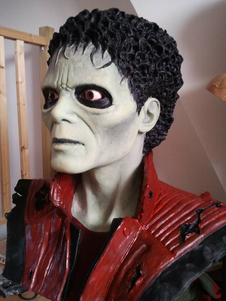 mon buste michael jackson mode zombi (thriller) 10026210