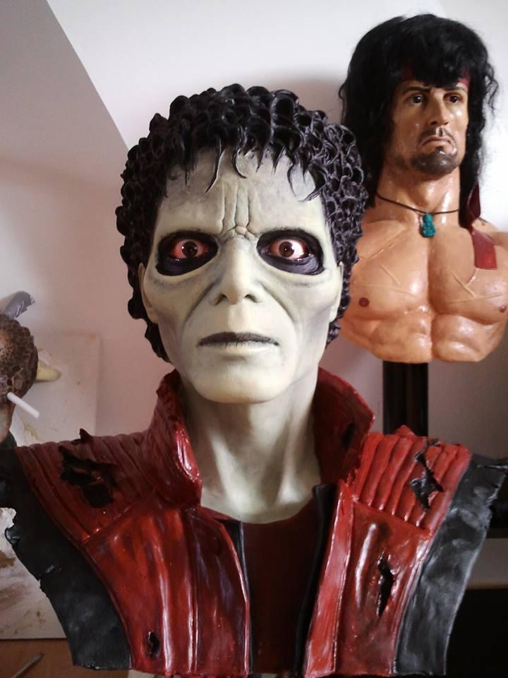 mon buste michael jackson mode zombi (thriller) 10047010