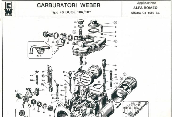 Giulia Nuova Super 1600 - Moteur + BV + nouvelle copine - Page 6 Weber110