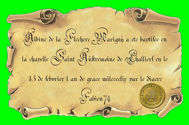 Baptêmes d'Albine, Emery, Marie et de...nan j'rigole, c'est tout. - Page 3 Certif10