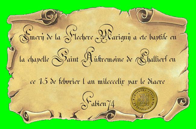 Baptêmes d'Albine, Emery, Marie et de...nan j'rigole, c'est tout. - Page 3 Certif11