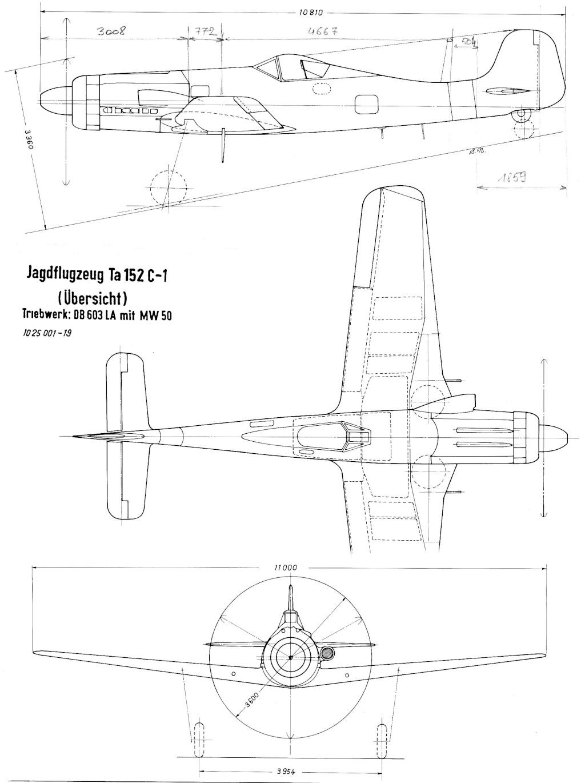 Plan du Ta-152C Ta152_10