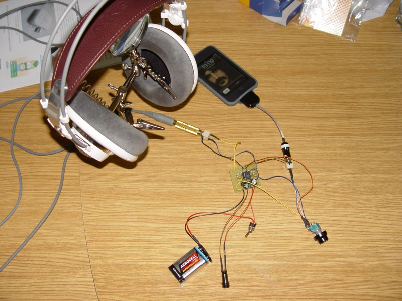 Amplificador de auscultadores Cmoy Dsc03516