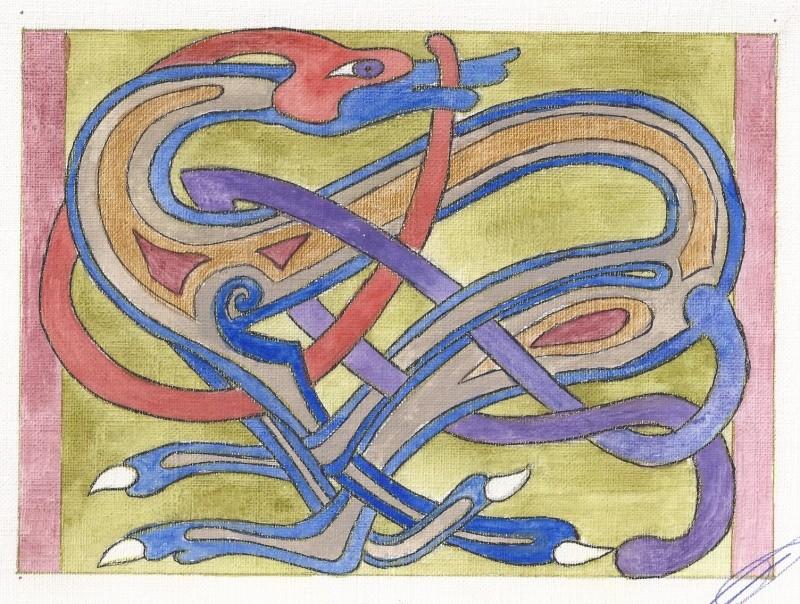 J'aime les entrelacs et autres dessins celtiques - Page 17 Chien_10