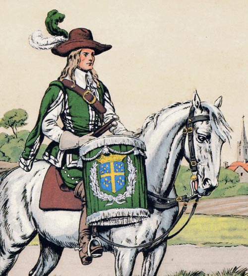 Timbalier de Praslin-Cavalerie, 1640. Timbal10