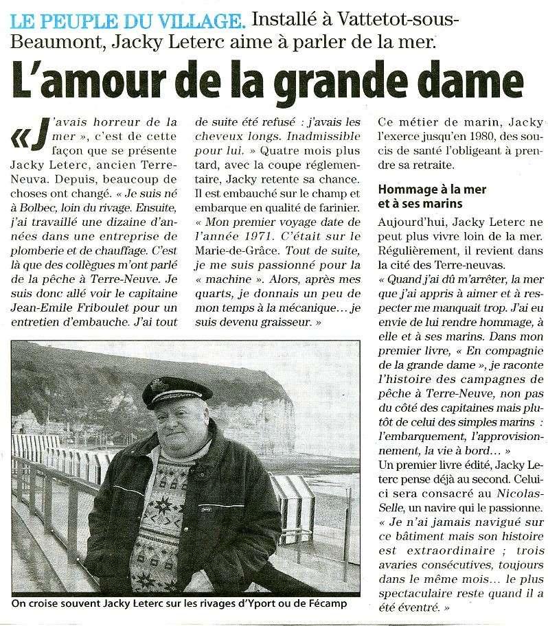 Yport - Fécamp - Jacky LETERC, ancien Terre-Neuva raconte sa mer côté marin ! Facamp11