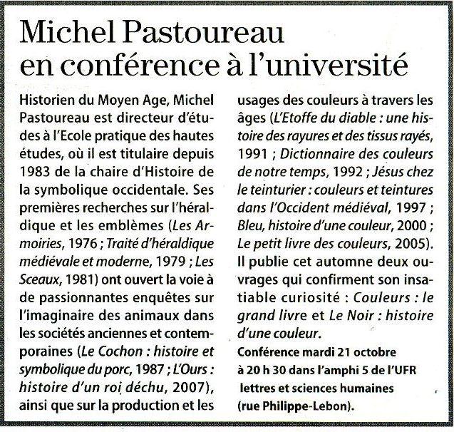Michel PASTOUREAU - Conférence sur les couleurs Pastou10