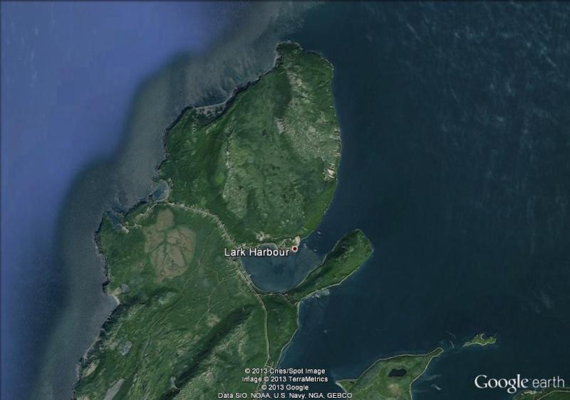une cascade de brume déferle sur Terre-Neuve-Lark Harbour-Canada Lark_h10
