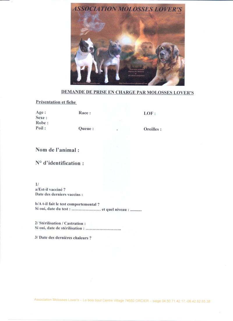 Formulaires de demande de prise en charge par Molosses Lover's Fiche_10