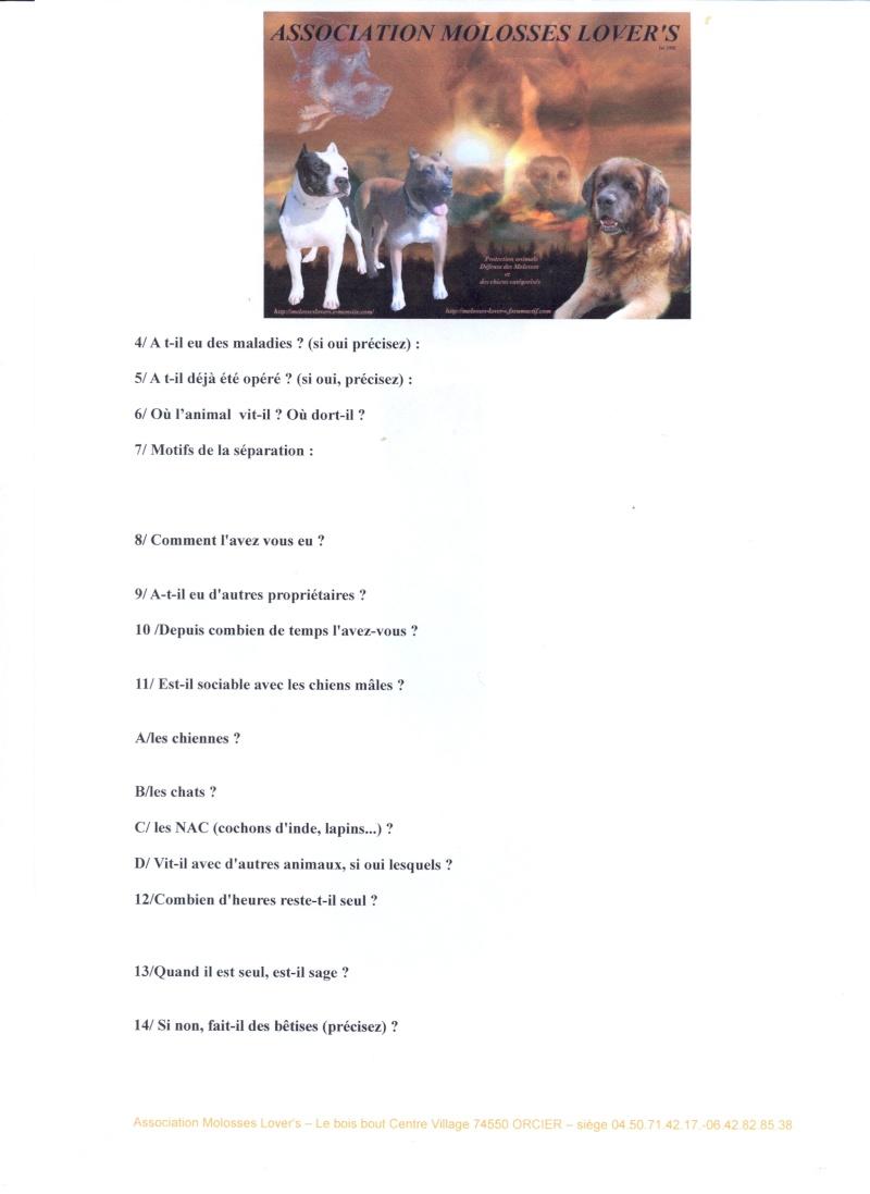 Formulaires de demande de prise en charge par Molosses Lover's Fiche_11