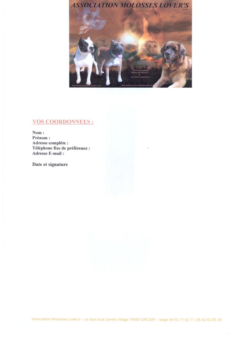 Formulaires de demande de prise en charge par Molosses Lover's Fiche_13