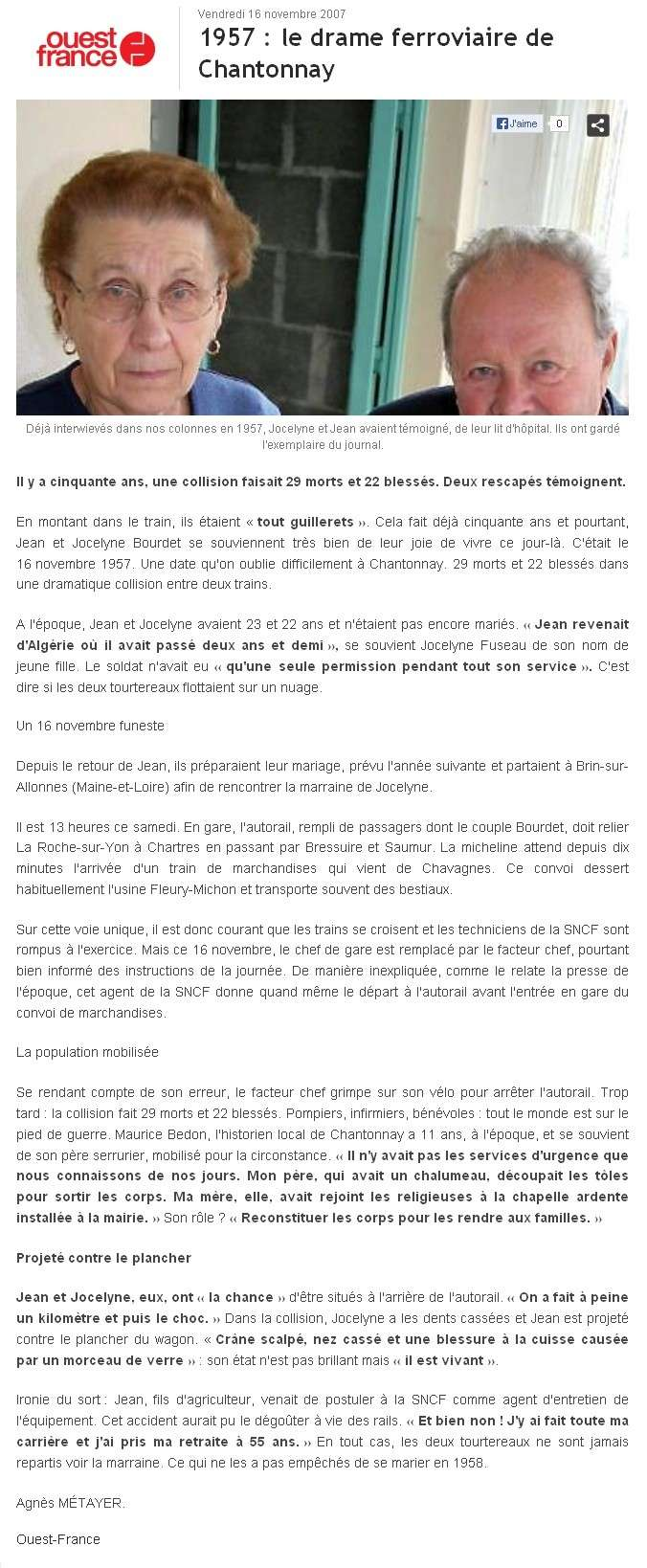 16 novembre 1957 - Catastrophe ferroviaire de Chantonnay 2007-o10