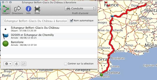 création itinéraire  sur Base Camp Captur10