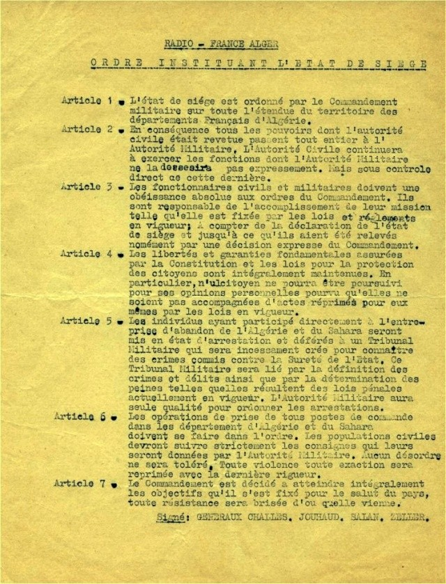 LE PUTSCH  21 AVRIL 1961- Récit d'un commando du 40 Putsch10