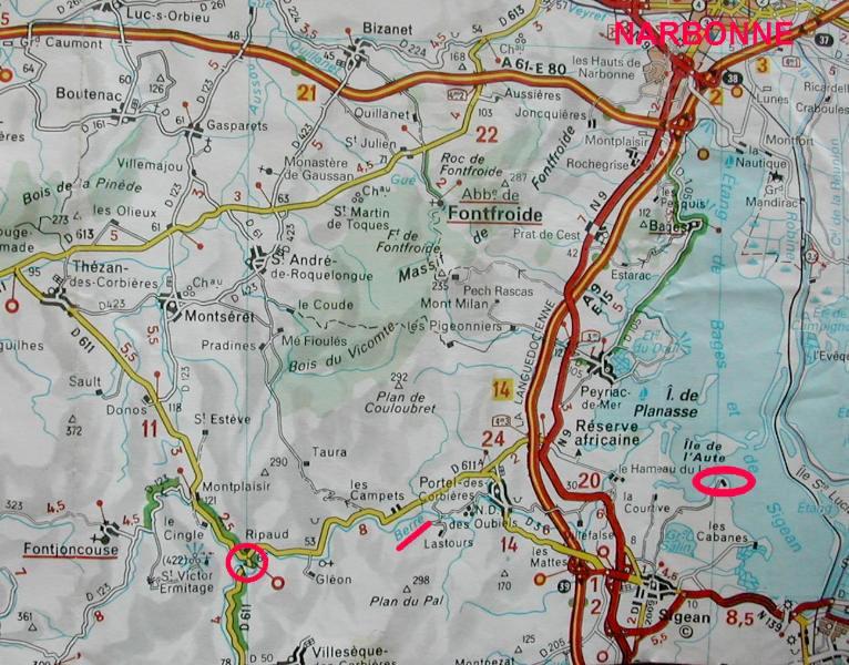 La Bataille de la Berre en 737 (Aude - 11) Carte110