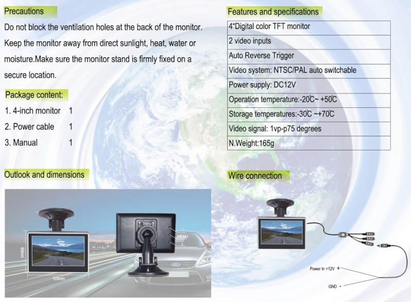 Caméra et écran de contrôle Captur19