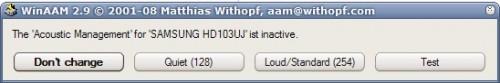 Reducir el ruido del disco duro Samsun10