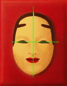 Mon deuxième à l'acrylique (Masque Nô) Masque10