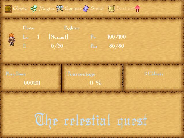 The celestial quest Menu10