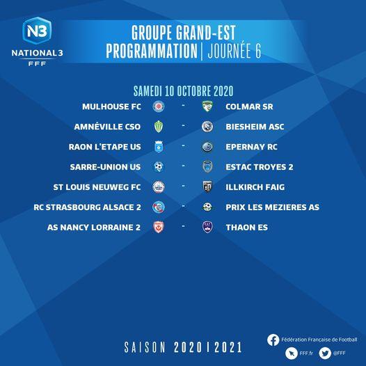Les matchs du groupe GE saison 2020-2021 6journ10