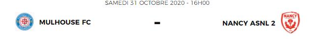 [N3] 8ème journée: FC Mulhouse  / AS Nancy Lorraine II Fcmnan11