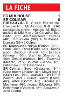 [N3] 6ème journée: FC Mulhouse - SR Colmar Fichem10