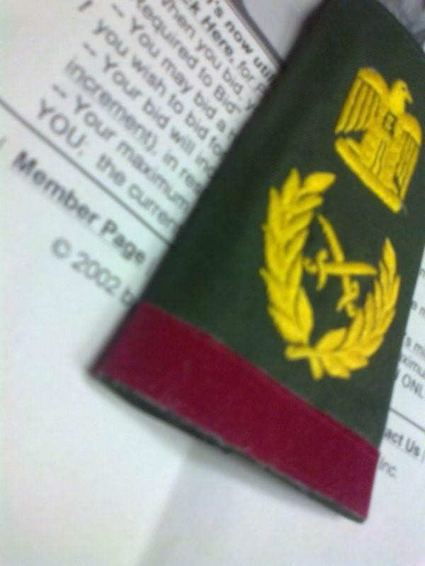 Saddam Hussein shoulder boards & cord,real or fake? Sh610