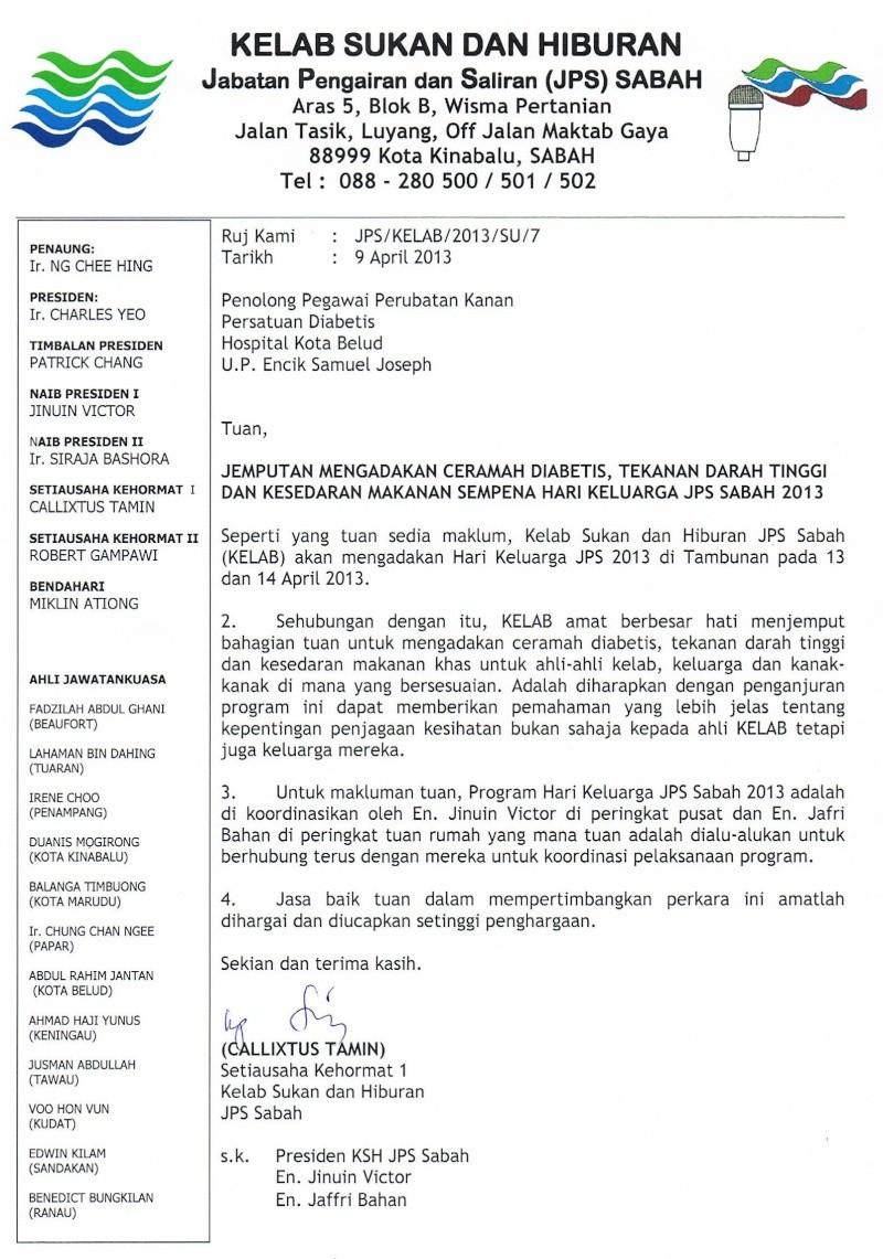 Jemputan Menghadiri Mesyuarat Agung Tahunan & Hari Keluarga KSH JPS Sabah 2013 Surat_10