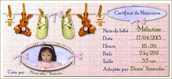 """Nurserie """" Les oisillons"""" de vannades Certif10"""