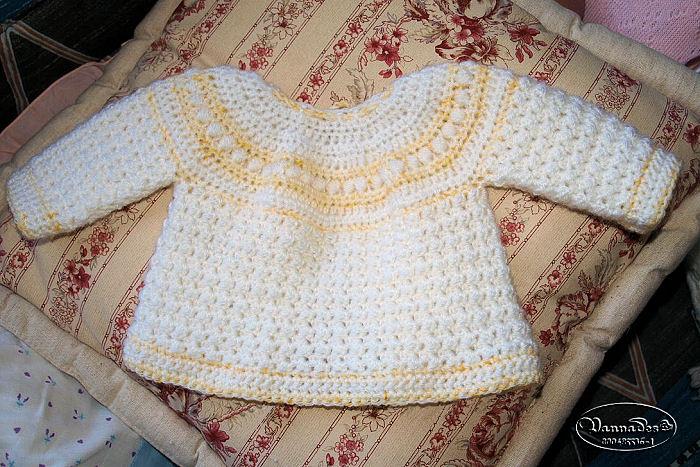 Créations pour bébés au crochet Veste10