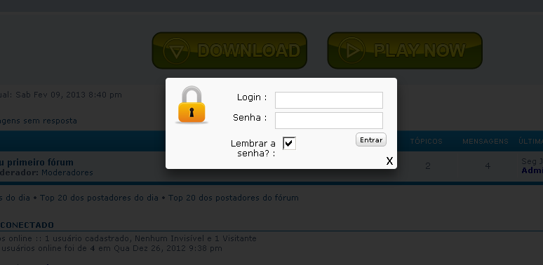 login popup - Login em pop-up Sem_ta14