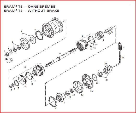 Moyeu 3 vitesses Brompton (SRAM, BSR) : démontage et entretien - Page 3 Sram311