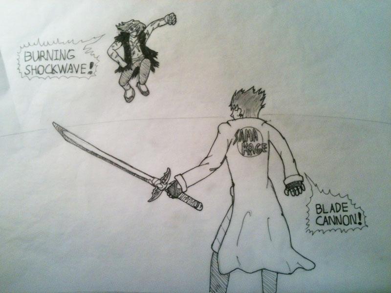 "some hand inked rttgl ""fan"" art Maximillion vs Iken Image112"