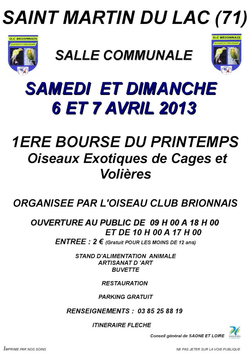 1ère Bourse du printemps Oiseaux Exotiques de cages et volières (71) 24984310