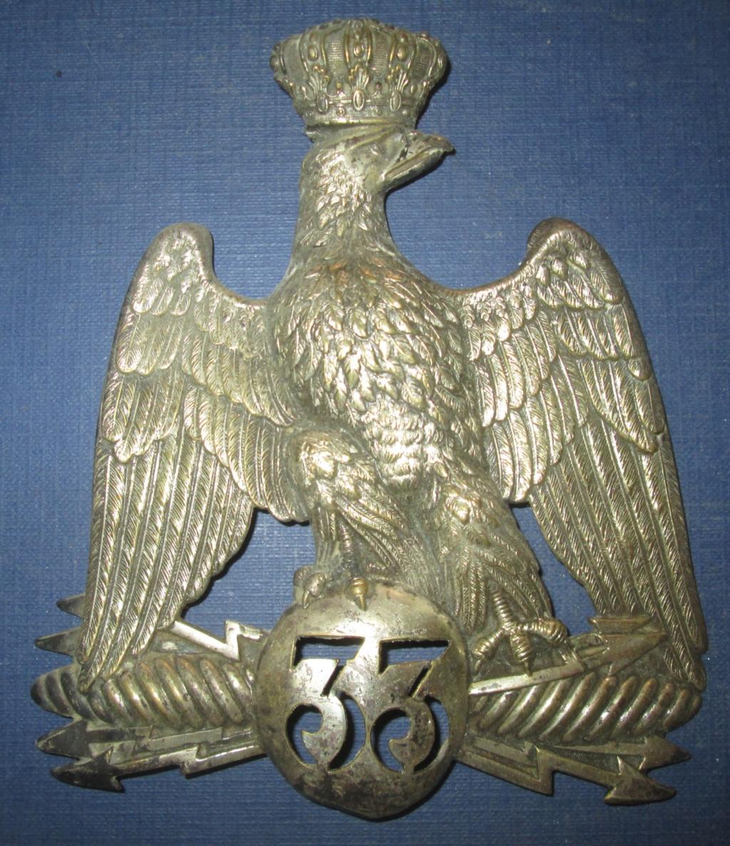 Plaque de shako M1852 Argentée?Garde Nationale Img_0613