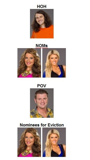 Week 10 Double Eviction - HOH, NOMs, POV  Week1011