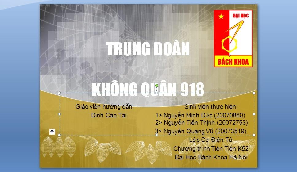 Slides Trung Doan Phong Khong 918 110