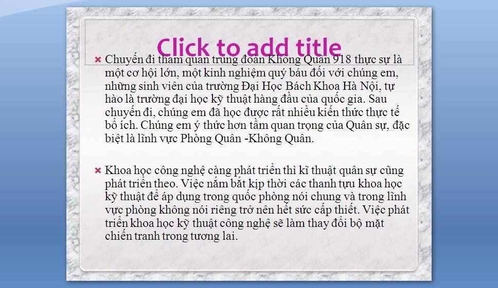 Slides Trung Doan Phong Khong 918 2710